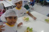 Alunos do Sesc recebem orientação sobre alimentação saudável