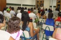 Palestra orienta alunos do Sesc Ler