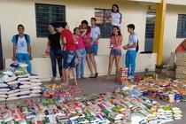 Escola doa alimentos ao Mesa Brasil Sesc
